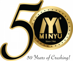 Minyu 50th Anniversary Logo - 50 Years of Crushing!