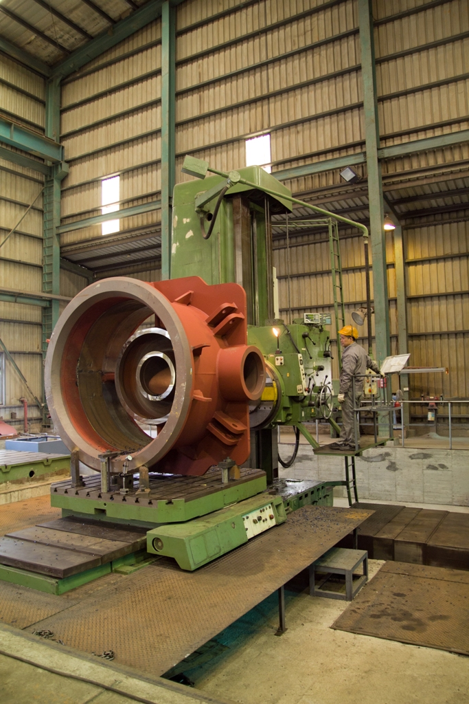 German Boring Machine 160mm Diameter - Profile View