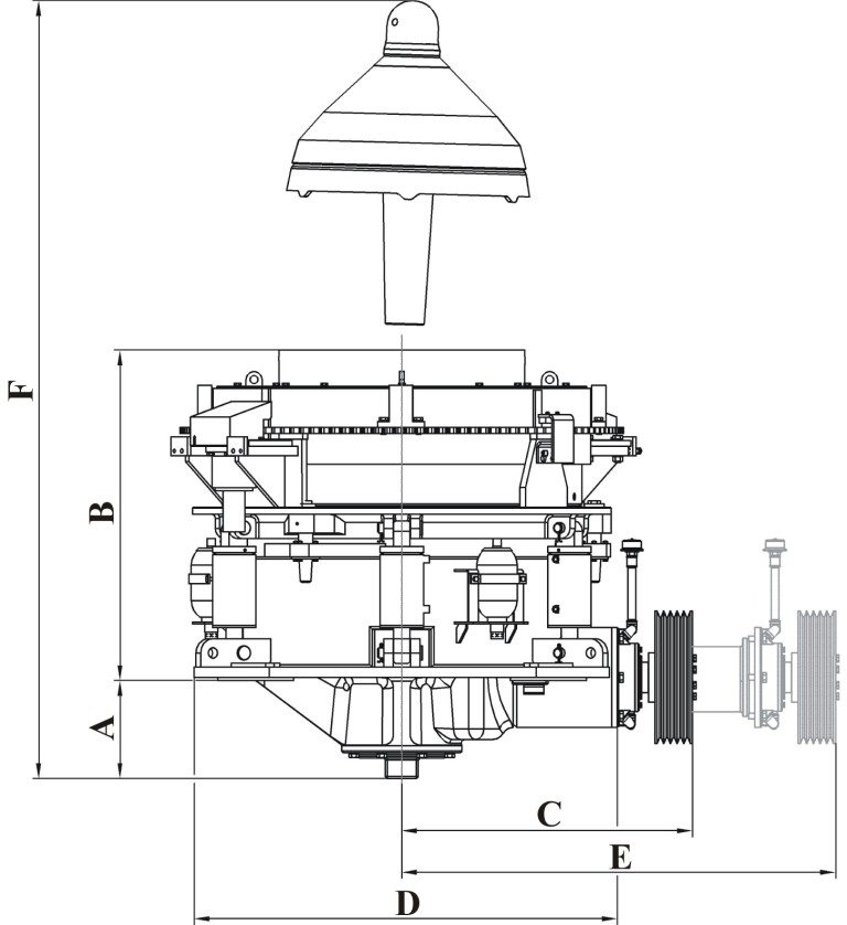 MSP Cone Crusher from Minyu: Dimensions