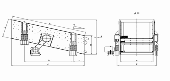 Minyu Inclined Vibrating Screen: Dimensions