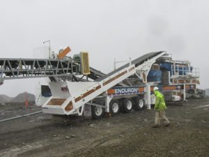 Minyu MSP300 Cone Crusher on RDO Closed Circuit Screen Plant
