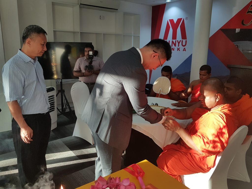 Blessings at opening of Minyu Lanka