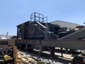 24x36 mobile jaw crushing plant